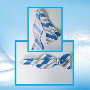 👔 Blue & Silver Adjustable Now Tie